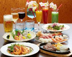 コース料理+食べ飲み放題自慢!80種が食べ飲み放題3時間3000円