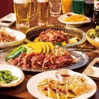 自慢のラム肉ジンギスカンを中心に牛肉豚肉のBBQ食べ放題!