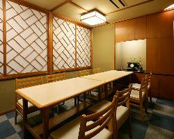 個室テーブル席4~12名様 接待や結納・顔合わせに最適です