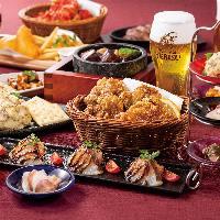 ビールとのマリアージュを追及した和テイストの料理の数々。