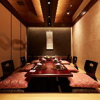 全席個室なので、周りを気にせずお食事をお召上がり頂けます