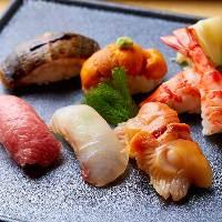 北大路伝統の味と熟練の職人が握る寿司をコースでご提供。