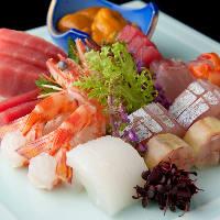 漁獲高日本一を誇るスズキなど、地元三番瀬の新鮮魚介をご提供