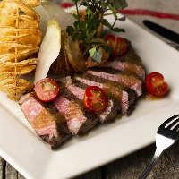 「牛ハラミのステーキ」ほどよい脂とやわらかい食感が人気!