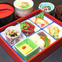 和の美味料理「お定食/お膳物」。お気軽にお立ち寄り下さい。