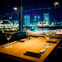 ≪窓側4名席≫ 接待やお祝いなどにも人気の窓際席☆