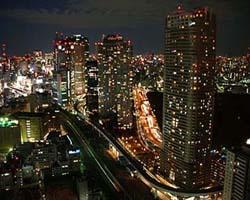 39階からの夜景はとっても綺麗。こちらは汐留方面の夜景です。