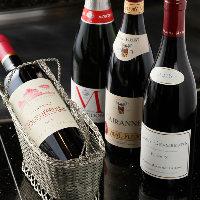 ゲストにも喜ばれる銘醸ワインや厳選した日本酒を多彩に取り揃え