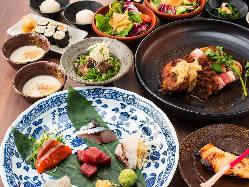 贅沢コース 全てのお料理が個人盛りで大切な日にピッタリ☆
