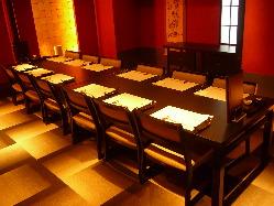 4名様~最大20名様までの完全個室は、ご接待や会食に