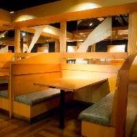 少人数での飲み会に最適なテーブル半個室は6名~16名様迄可能。