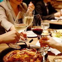 スペイン料理に合う自慢のワインや現地のビールをラインナップ
