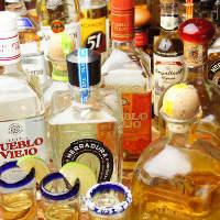 お酒の種類も豊富! 勿論テキーラも……お任せ下さい。