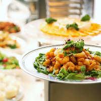 大皿料理のパーティープランは2H飲み放題付コース3,680円~
