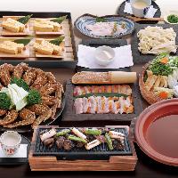 宴会コースは2500円~、+1500円で飲み放題付に変更可能!