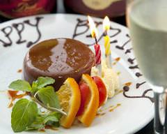 誕生日、記念日にはデザートプレートをプレゼント♪