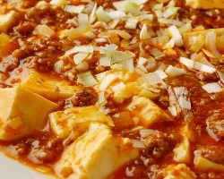 四川麻婆豆腐。「白の麻婆豆腐」も人気です!!