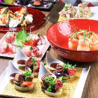 【旬のコース】 旬の食材が織りなす料理の数々。飲み放題付もあり