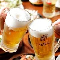 飲み放題コースは1,800円~ご用意♪ 酒好きにはたまらない!!