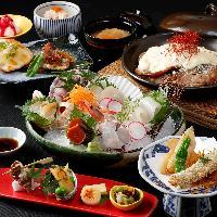 旬の味満載…贅沢刺身盛りに陶板焼きの満喫コース。 3,800円