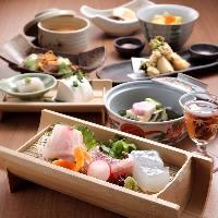 天然鮮魚3種と福井産がす海老盛合せなど全9品【典雅コース】
