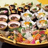 鮑の海鮮五徳焼きコース 6,000円(飲み放題付き)