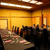 個室は和洋全6室 (2~30名様)女子会やクラス会などに。