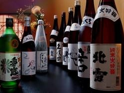 種類豊富な日本酒&焼酎を兼ね備えております。