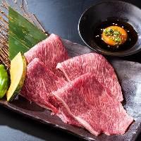 A5黒毛和牛のお肉はとろけるような食感がたまりません!