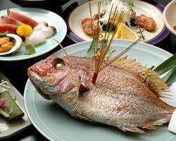 秋のお祝い料理 8品   祝鯛付