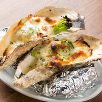 ◆カキフライやバター焼きなど新鮮な牡蠣料理を思う存分堪能!