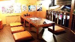 個室感覚な隠れ家席。 6~8名様でご利用いただけます。