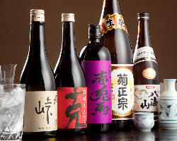 お蕎麦に合う焼酎・日本酒を種類豊富に取り揃えております!