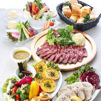 熟成肉の堪能できるコースは大人気。