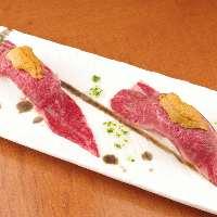 赤身・ロース・タンと馬肉の色んな味わいが楽しめる盛り合わせ