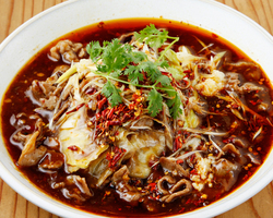 ヘルシーなラムの炒め煮 水煮羊肉(四川ラム)