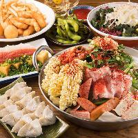 ◆鉄鍋餃子・もつ鍋を堪能できる博多宴会コースは3,000円から♪