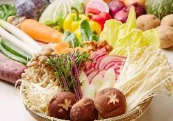 季節の野菜を取り揃えております。