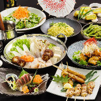 【飲み放題付宴会】 各種ご宴会料理をご用意しております