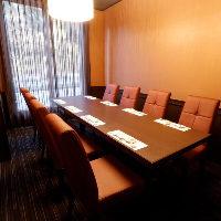 ゆったりとお食事をお楽しみいただける個室は4名様〜8名様まで
