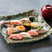 最高級の素材を使用し熟練の技で握るこだわりの寿司を多数ご用意
