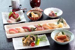 季節の食材を活かした宴会コースは5,500円。