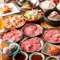 A5黒毛和牛の壺漬けカルビやミスジなど厳選肉をワイワイ楽しんで