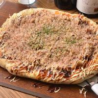 【当店名物】 直径35cmのパーティサイズのピザもございます