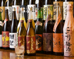 焼酎40種、日本酒16種、梅酒10種