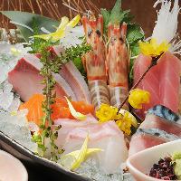 季節の鮮魚のお造り 900円より
