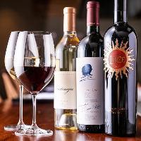 グラスから5大シャトーまで多彩なワインをソムリエがご提案