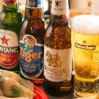 """おすすめは、""""タイガー生ビール""""★ランチビールもございます。"""