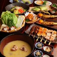 【比内地鶏三昧】御宴会用 コースは5500円よりご用意!