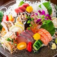 市場直接買い付けの新鮮な鮮魚!お刺身7品盛り合わせ